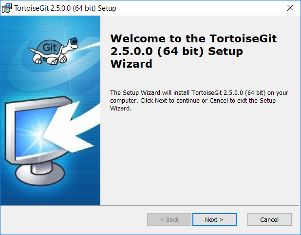 Welcome to the TortoiseGit Setup Wizard